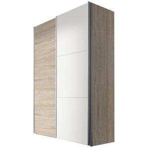 Hom`in: Schwebetürenschrank, Holzwerkstoff, Sonoma Eiche, Weiß, B/H/T 150 216 68