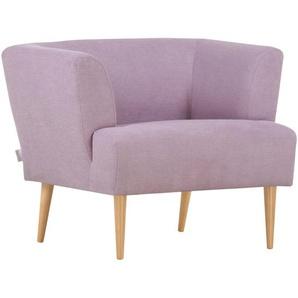 Hom`in Sessel , Flieder , Textil , Buche , massiv , 85x71x80 cm , Stoffauswahl , Wohnzimmer, Sessel, Polstersessel