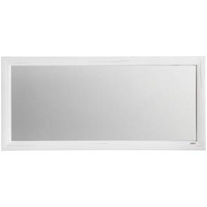 Hom`in Spiegel , Weiß , Glas , rechteckig , 130.4x60x2.5 cm , Schlafzimmer, Spiegel, Wandspiegel