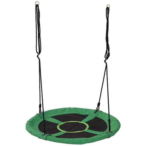 Homcom Kinder Nestschaukel in runder Form grün/schwarz