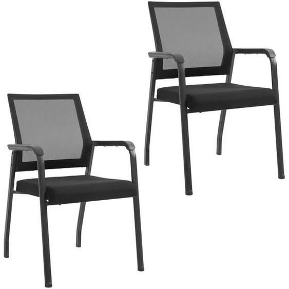 Homcom Konferenzstuhl ergonomisch schwarz
