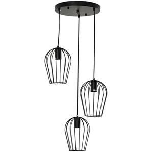 Homcom Pendelleuchte mit dem Metalldrahtkäfig-Design schwarz