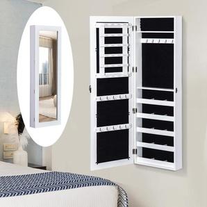 HOMCOM® 2 in 1 Schmuckschrank Wandspiegel L37 x W9.5 x H112 cm