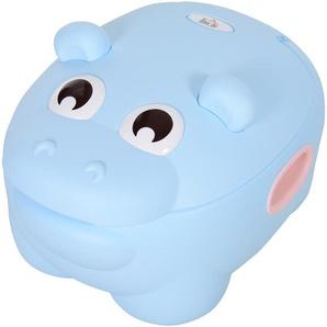 HOMCOM® Kindertöpfchen Kindertoilette Baby Toilettentrainer Waschbar Schale Plastik Blau