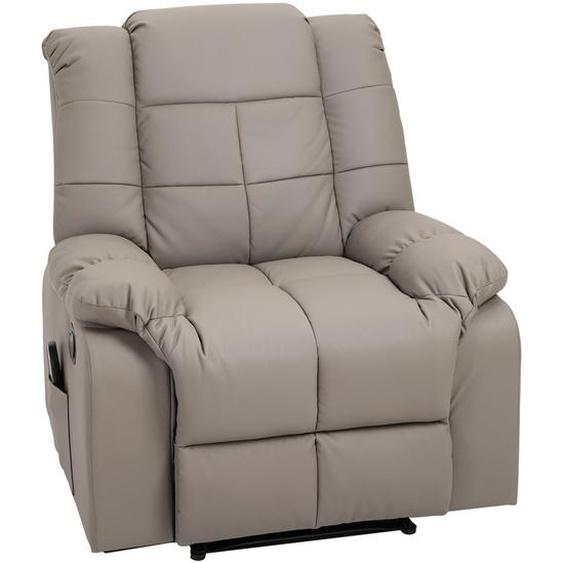 HOMCOM® Massagesessel mit Heizfunktion Liegefunktion 90 x 97 x 99 cm Grau