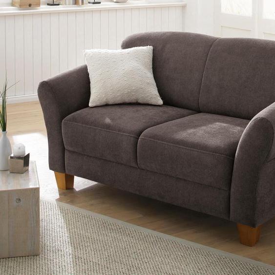 2-Sitzer »Gotland«, 163x84x89 cm (BxHxT), mit Federkern, FSC®-zertifiziert, Home affaire, braun, Material Holzwerkstoff