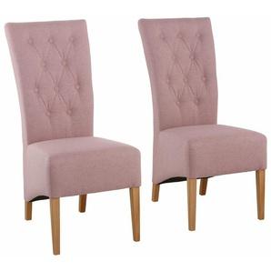 Home affaire Stuhl rot, 2er Set, », im 2er, 4er oder 6er-Pack, mit Strukturstoff- Bezug in 3 Farben«, strapazierfähig, FSC®-zertifiziert