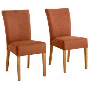 Home affaire 4-Fußstuhl Queen, bezogen mit Web- oder Strukturstoff, Microfaser Kunstleder. Im 2er-, 4er 6er-Set B/H/T: 46 cm x 93 64 cm, 6 St., Luxus-Microfaser Lederoptik rot 4-Fuß-Stühle Stühle Sitzbänke