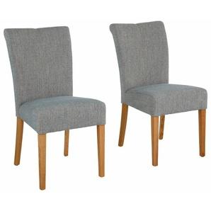 Home affaire 4-Fußstuhl Queen, bezogen mit Web- oder Strukturstoff, Microfaser Kunstleder. Im 2er-, 4er 6er-Set B/H/T: 46 cm x 93 64 cm, 6 St., Struktur blau 4-Fuß-Stühle Stühle Sitzbänke