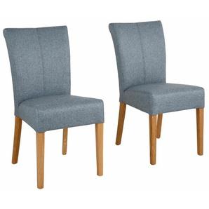 Home affaire 4-Fußstuhl Queen, bezogen mit Web- oder Strukturstoff, Microfaser Kunstleder. Im 2er-, 4er 6er-Set B/H/T: 46 cm x 93 64 cm, 6 St., Webstoff blau 4-Fuß-Stühle Stühle Sitzbänke