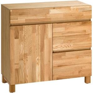 Home affaire Badkommode Kaika, Breite 80 cm B/H/T: x 79 35 cm, Anzahl Schubladen: 3 beige Kommoden Garderoben Nachhaltige Möbel