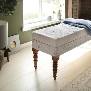 Home affaire Bank Javed B/H/T: 105 cm x 42 40 cm, Polyester bunt Hocker, Bänke Truhen Garderoben Nachhaltige Möbel