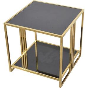 Home affaire Beistelltisch, gold, Material Edelstahl