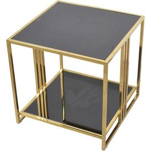 Home affaire Beistelltisch, mit Sicherheits-Glasplatte B/H/T: 50 cm x goldfarben Beistelltisch Beistelltische Tische