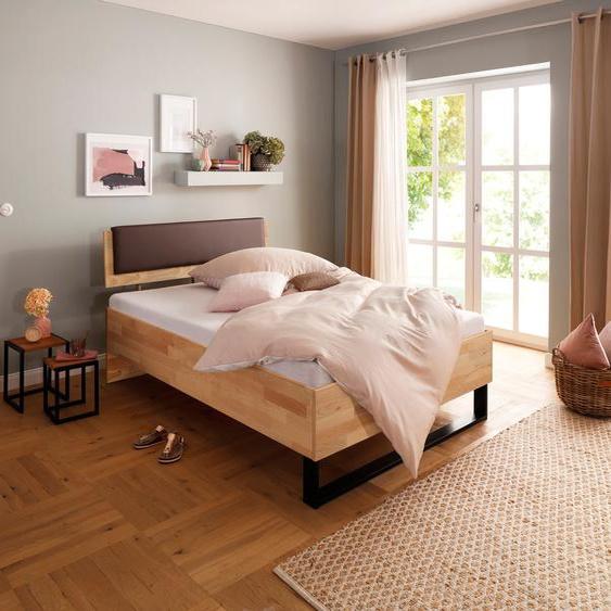 Home affaire Bett Amsterdamm Einheitsgröße braun Massivholzbetten Betten