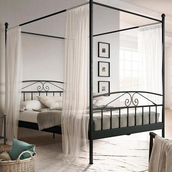 Home affaire  Bett aus Metall , schwarz, Material Metall »Birgit«»Birgit«