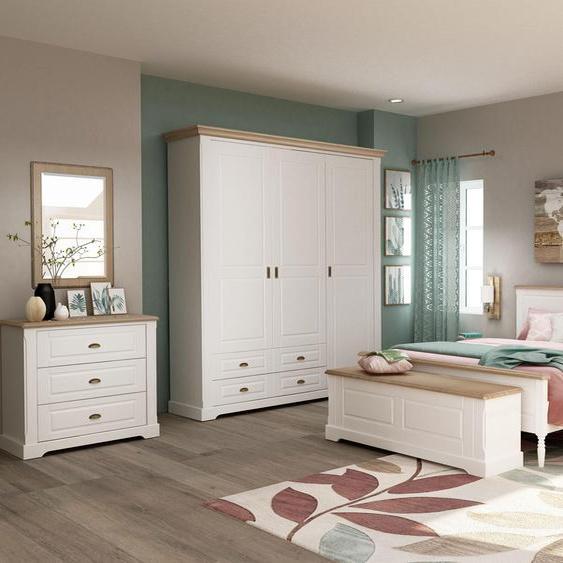 Home affaire Bett Bastide (2 Teile) 140x200 cm weiß Massivholzbetten Betten