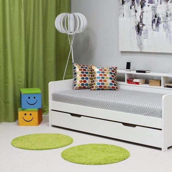 Home affaire Bett Bora 90x200 cm Höhe Bettseite: 37 weiß Massivholzbetten Betten