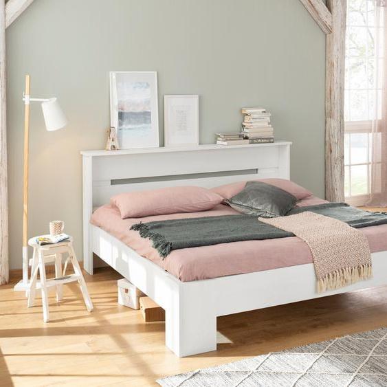 Home affaire Bett Katryn 180x200 cm Höhe Bettseite: 21 weiß Massivholzbetten Betten