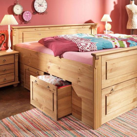 Home affaire Bett Tessin 180x200 cm Höhe Bettseite: 56 beige Kinder Kinderbetten Kindermöbel Betten