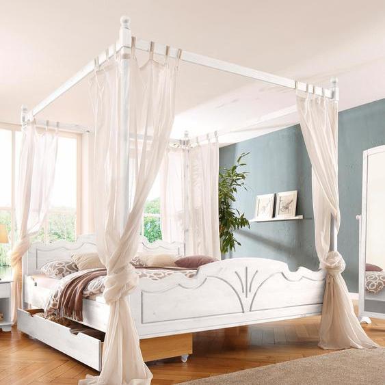 Home affaire Bettaufsatz, Landhaus-Stil, FSC®-zertifiziert, weiß, Material Massivholz »Melody«