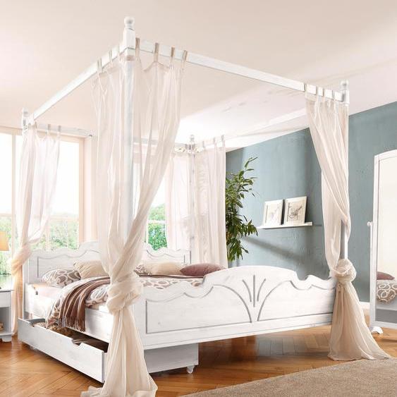 Bettaufsatz »Melody«, Landhaus-Stil, FSC®-zertifiziert, weiß, Material Massivholz