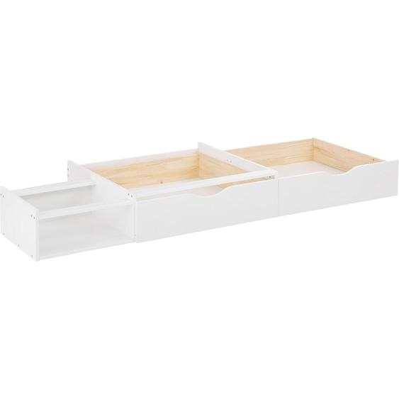 Home affaire Bettschubkasten Ieva 200x29 cm weiß Bettgestelle Betten Schubladen