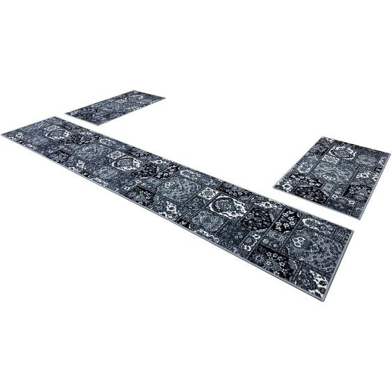 Home affaire Bettumrandung Emiel, orientalische Dekor B/L (Brücke): 60 cm x 110 (2 St.) (Läufer): 320 (1 St.), rechteckig grau Bettumrandungen Läufer Teppiche