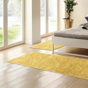 Home Affaire Bettumrandung  Home affaire »Shaggy 30«, 15 (2x Brücke 150x80 cm & 1x Läufer 340x80 cm), 30 mm Gesamthöhe, gold