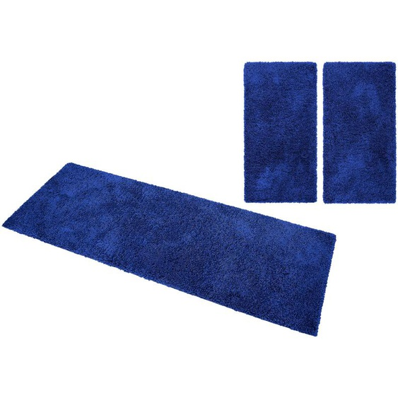 Home affaire Bettumrandung Viva, gewebt B/L (Brücke): 70 cm x 140 (2 St.) (Läufer): 250 (1 St.), rechteckig blau Bettumrandungen Läufer Teppiche