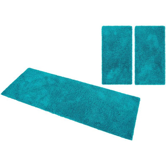 Home affaire Bettumrandung Viva, gewebt B/L (Brücke): 70 cm x 140 (2 St.), rechteckig blau Bettumrandungen Läufer Teppiche