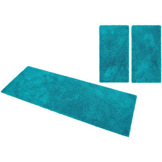 Home affaire Bettumrandung Viva, gewebt B/L (Brücke): 80 cm x 150 (2 St.) (Läufer): 340 (1 St.), rechteckig blau Bettumrandungen Läufer Teppiche