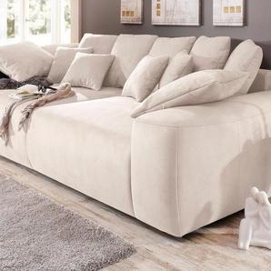 Home affaire Big-Sofa, Breite 302 cm, mit vielen losen Kissen