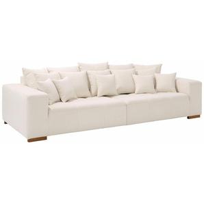 Home affaire Big-Sofa »Neapel«, mit vielen losen Kissen, in 2 Bezugsqualitäten
