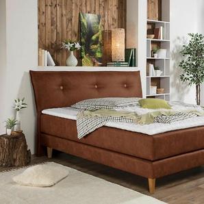 Home affaire Boxspringbett »Capaya«, braun, 100x200cm, H3, ,