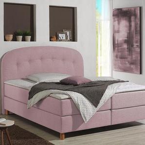 Home Affaire Boxspringbett »Dylan«, rosa, 160/200 cm