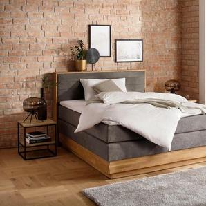 Premium collection by Home affaire Boxspringbett , grau, 160x200cm, H2, »Cavan«, , , FSC®-zertifiziert