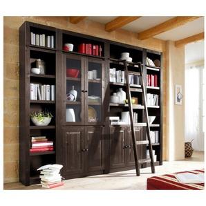 Home affaire Bücherwand »Bergen«, aus massivem schönen Kiefernholz, Breite 255 cm
