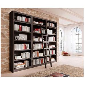 Home affaire Bücherwand »Bergen«, aus schönem massivem Kiefernholz, 3 tlg.