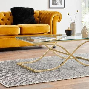 Home affaire Couchtisch, Maße (B/T/H): (120/70/42) B/H/T: 120 cm x 42 70 goldfarben Couchtisch Couchtische Tische Möbel sofort lieferbar