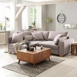 Home affaire Couchtisch »Ohio«, im traditionellem Design, mit zwei Klappen für viel Stauraum, Breite 100 cm