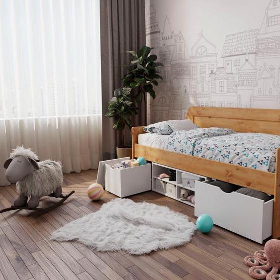Home affaire Daybett »Alda«, weiß, Material Kiefernholz, mit Bettkasten»Alda«