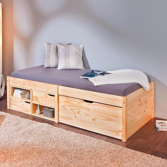 Home affaire Daybett Farum 90x200 cm beige Tagesbetten Gästebetten Betten Daybetten