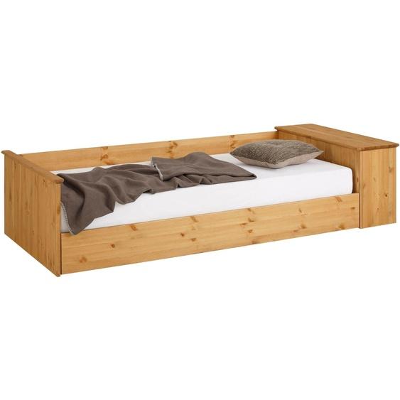 Home affaire Daybett, Landhaus-Stil, beige, Material Kiefer