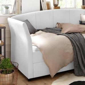 Home affaire Daybett »Maja«, weiß, 90x200 cm, Kunstleder, FSC-Zertifikat, ,