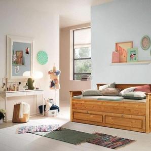 Home Affaire Daybett », wahlweise mit oder ohne Bettschublade«, beige, mit Rollrost