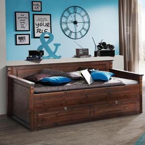 Home Affaire Daybett », wahlweise mit oder ohne Bettschublade«, braun, mit Rollrost