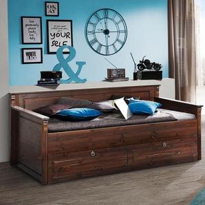 Home affaire Daybett Tessin, mit Bettschublade Bettschublade, kein Härtegrad braun Betten