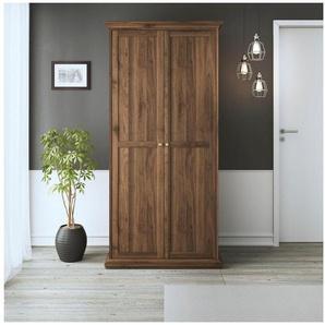 Home affaire Kleiderschrank »Paris« im romatischen Landhaus-Stil und schönem Holzfurnier, Höhe 200,5 cm