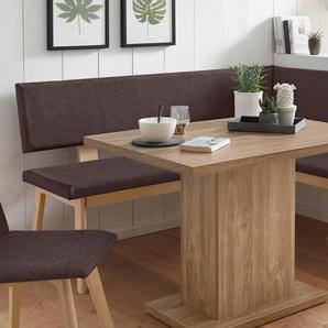 Home affaire Eckbank Zelle B/H/T: 125 cm x 87 165 cm, Webstoff, langer Schenkel links braun Eckbänke Sitzbänke Stühle